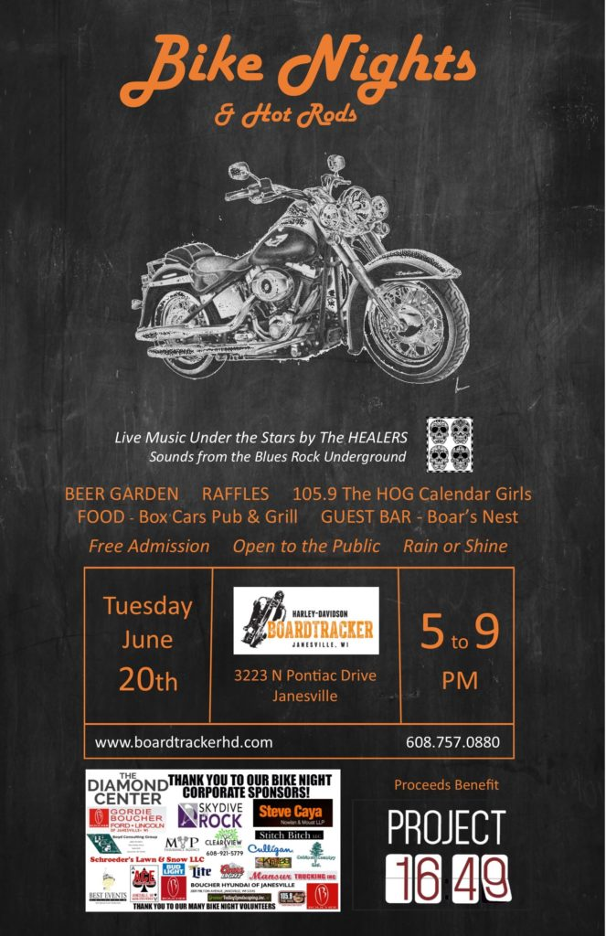 Bike Night to benefit Project 16:49